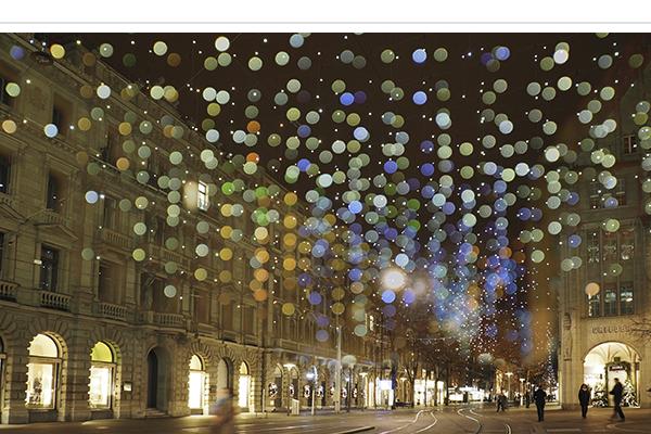 Bahnhofstrasse Zürich Weihnachtsbeleuchtung