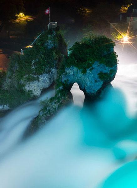 Rheinfall wattig fotografiert