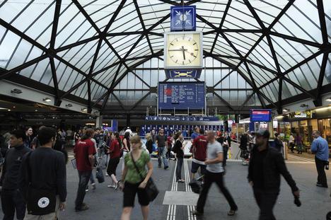 Fotokurs am Bahnhof St. Gallen